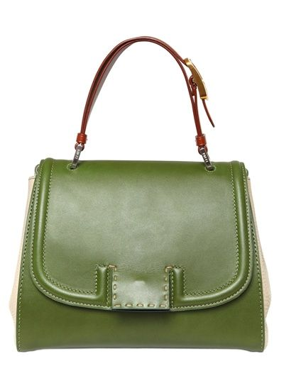 FENDI Silvana Leather Top Handle