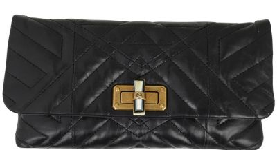 LANVIN Quilted Happy Chain Clutch