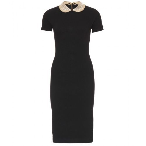 MARC BY MARC JACOBS Black Mika Dress With Embellished Collar