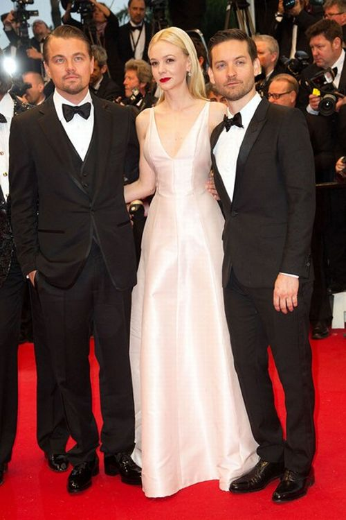 Carey Mulligan Leonardo Dicaprio Tobey Maguire Cannes Film Festival 2013
