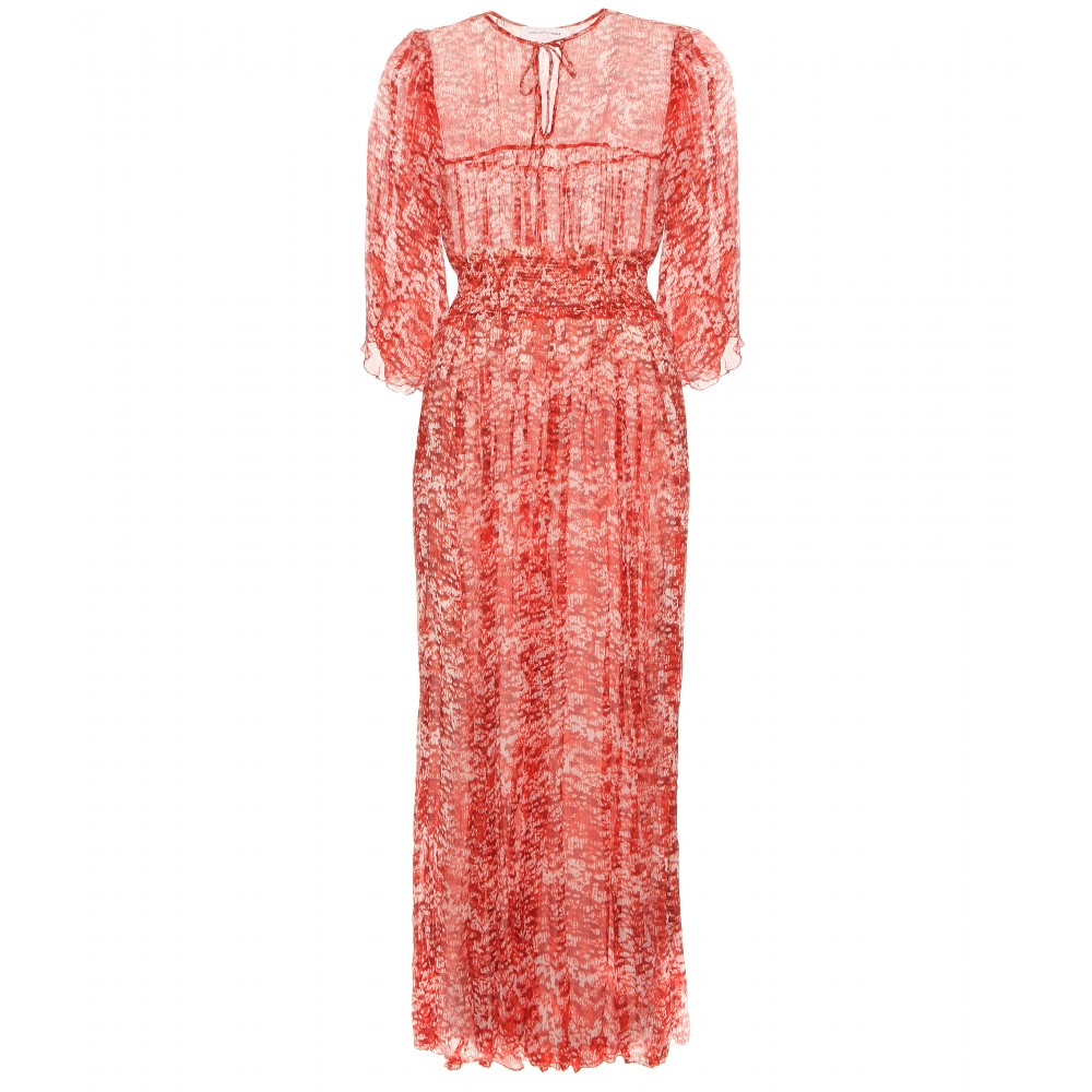 Isabal Marant / Etoile DOMI PRINT SILK CREPE DRESS