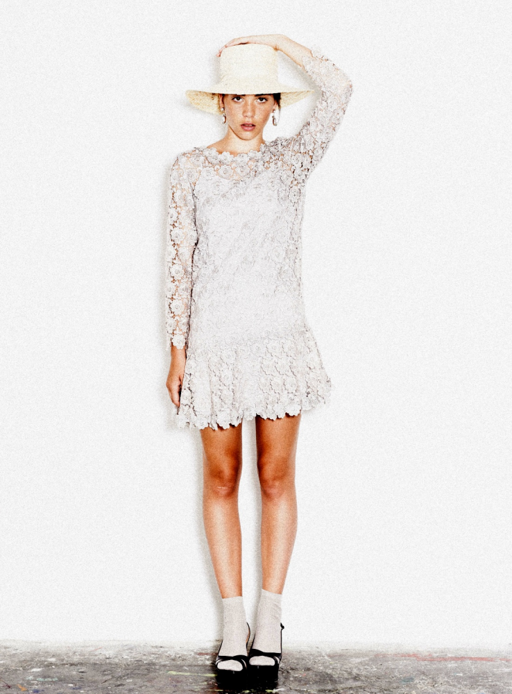 The Brigitte Long Sleeved Lace Dress