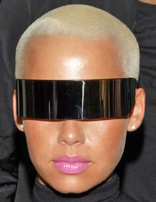 Amber Rose In Maison Martin Margiela Sunglasses
