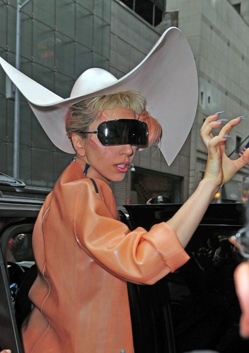 Lady Gaga In Maison Martin Margiela Sunglasses