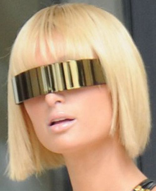 Paris Hilton In Maison Martin Margiela Sunglasses